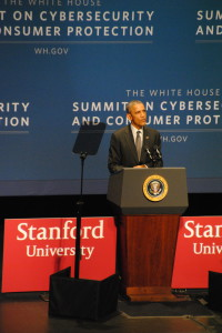 President Obama spoke to students, CEOs and faculty about the relationship between the public and private sector.