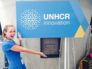 Anna Blue at the UNHCR office in Geneva