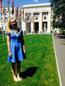 Anna Blue at the United Nations main office (image source: Anna Blue)